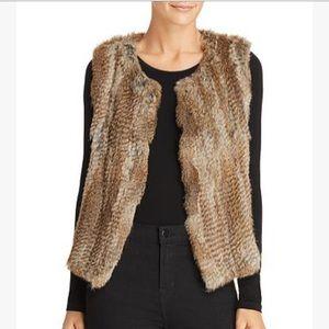 525 America Luxe brand rabbit fur vest
